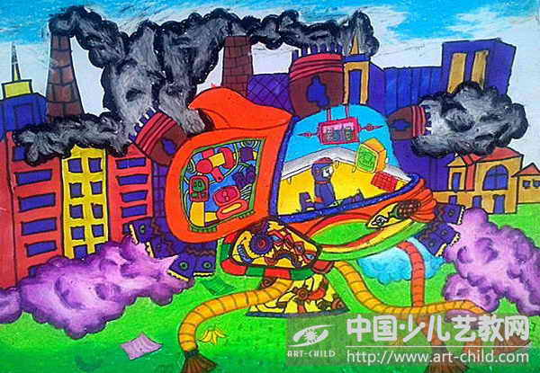 儿童未来科技绘画作品分享展示图片