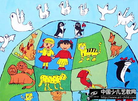 世界和平儿童画和平为主题的画和平儿童画和平主题