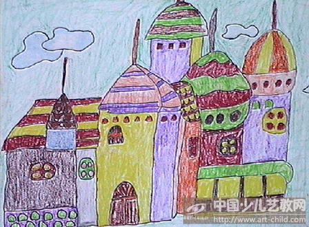 城堡绘画获奖作品平_城堡绘画获奖作品平分享展示图片