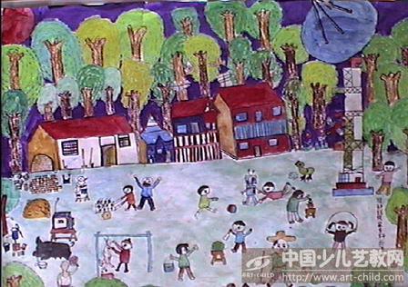 家乡美中国梦绘画