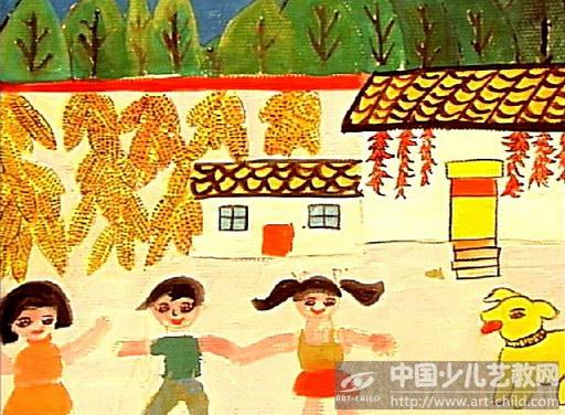 中国梦儿童刮画
