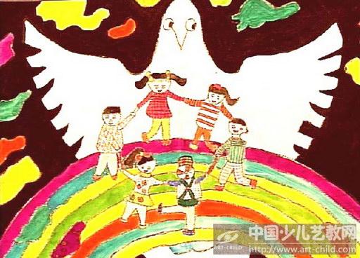 淘宝我爱和平儿童画