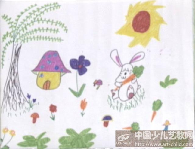 作品名称:  《快乐的小白兔》