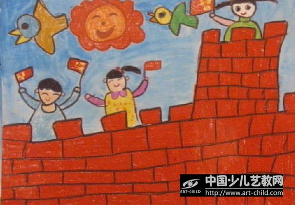 幼儿园自制长城