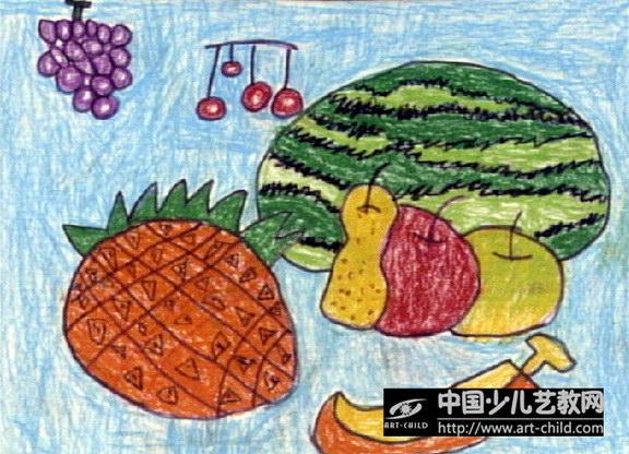 秋天的水果儿童画图片展示