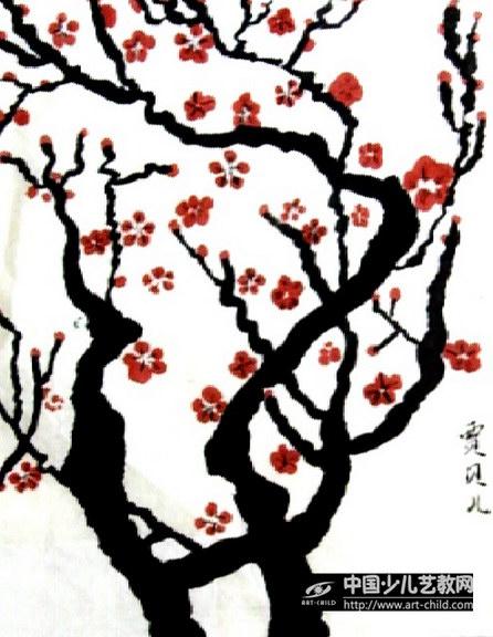 王成喜的梅花画法展示