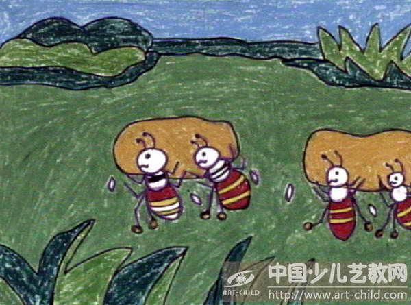 《蚂蚁抬豆》
