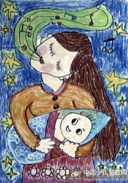 母亲节的儿童画