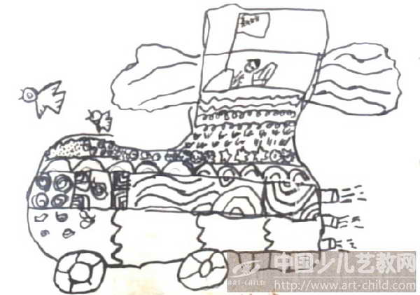 幼儿鞋子线描画分享展示图片