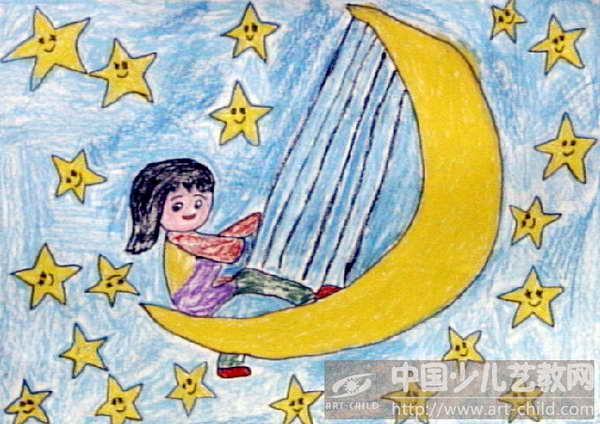 卡通月亮的画法