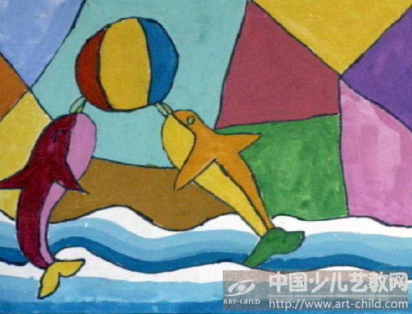 《海豚顶球》