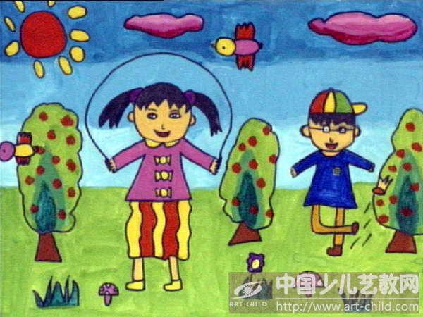 小学课间十分钟简笔画-作品参赛详情 参赛查询 赛事中心 全息网