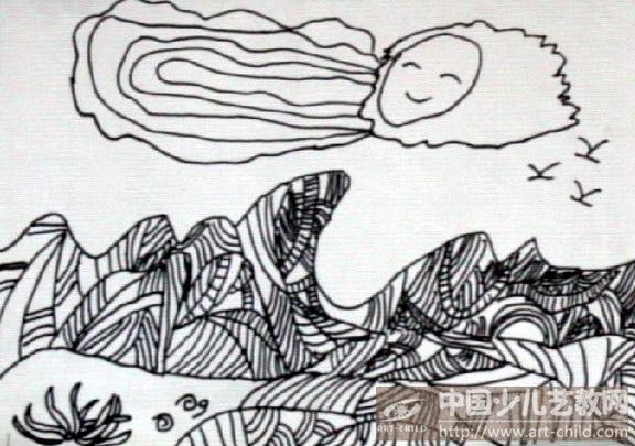 会动的儿童画_儿童动漫明星黑白画_猫头鹰儿童插画 ...