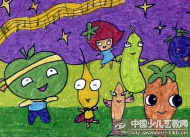 儿童画 608_438图片