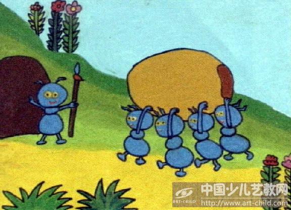 《蚂蚁搬豆》