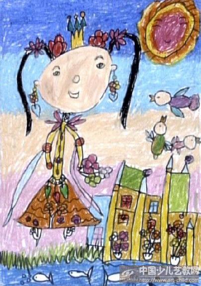 画画公主裙子画法