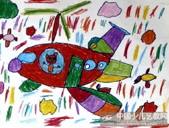 幼儿园画画飞机图片