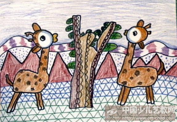 幼儿园画画保护森林分享展示图片