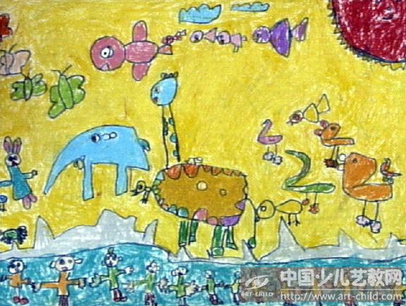 亲子运动会儿童画内容图片展示_亲子运动会儿童画图片