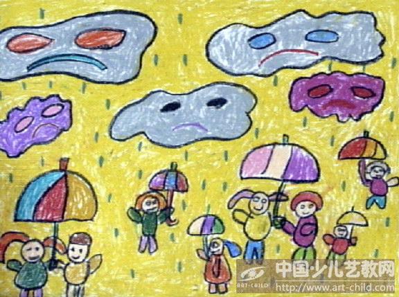 作品名称:  《下雨了》图片