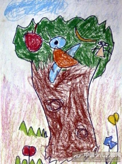 幼儿园保护森林绘画图片展示图片