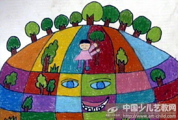 儿童简单地球画