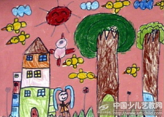春天来了儿童画获奖分享展示图片