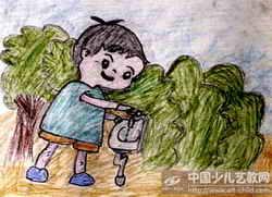 儿童节水主题画图片 节水节电节粮主题班会,节水主题班会