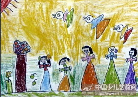 幼儿园老师线条画获奖作品