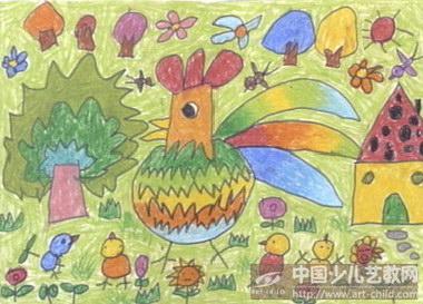 作品名称:  《大公鸡找春天》