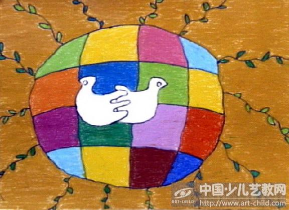 世界和平简单绘画世界和平世界和平儿童画关于世界和