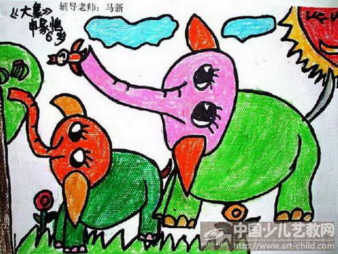 儿童大象简单画法