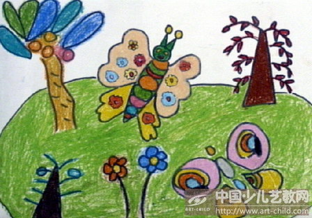 蝴蝶的颜色搭配画