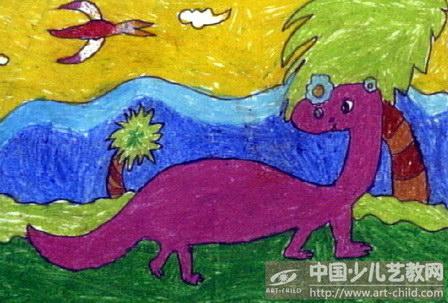 幼儿线条画恐龙分享展示图片