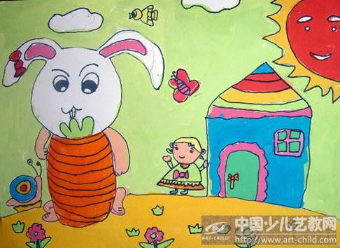 《小白兔啃大萝卜》