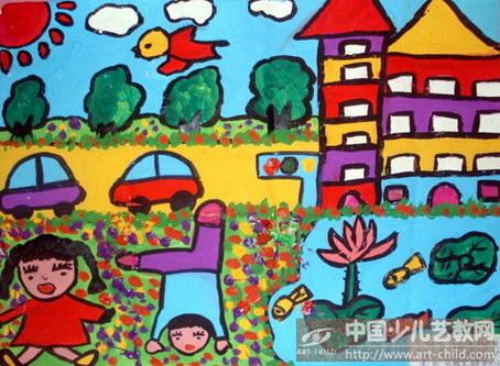 爱我的家乡儿童画
