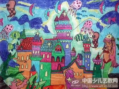 城堡儿童画图片