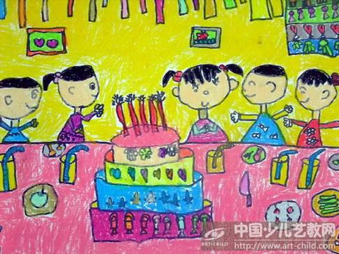 生日简单卡通画