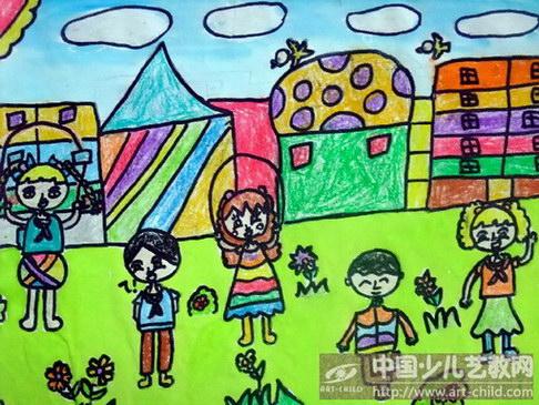 关于校园生活的儿童画
