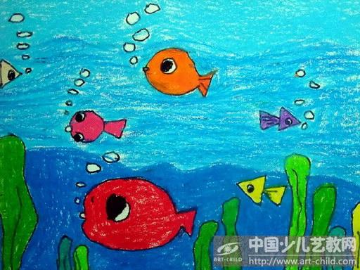 儿童鱼画图片大全