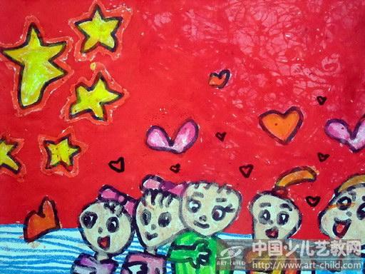 赞美祖国的儿童画展示