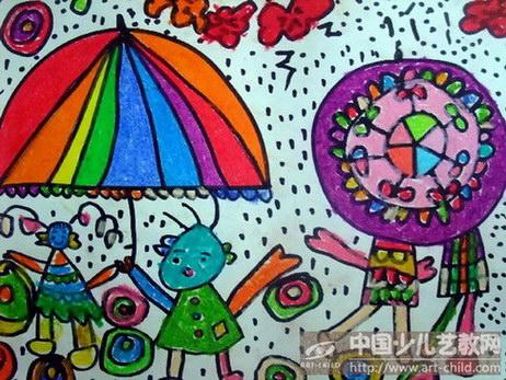 小班美术下雨了教案图片