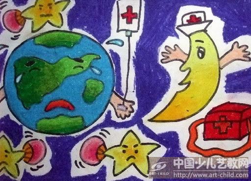 儿童地球环保画