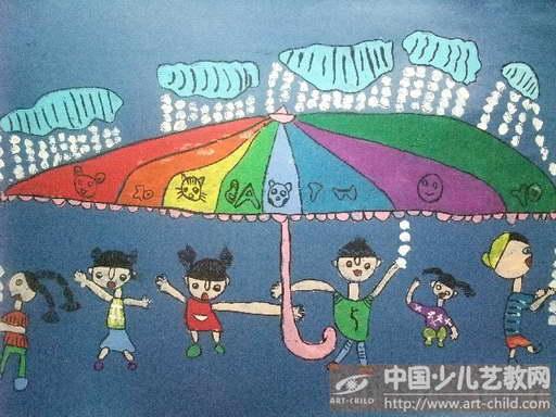 绘画图片幼儿简笔画伞;