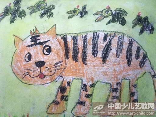 幼儿绘画老虎图片