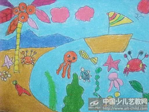 作品名称:  《大海里的小动物》