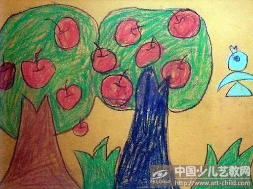 关于树的儿童画