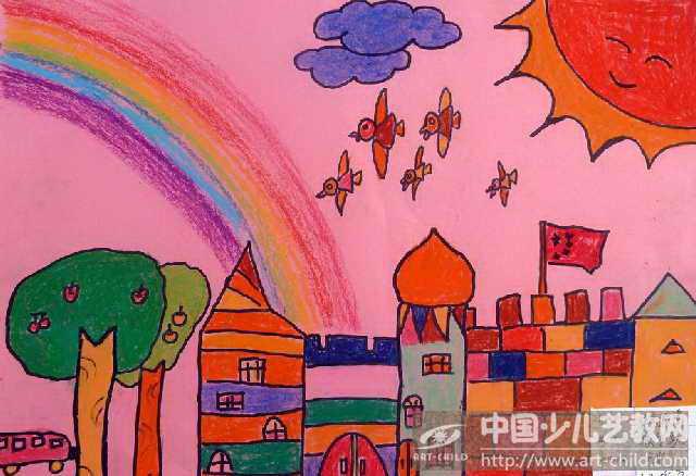 儿童简易城堡画法