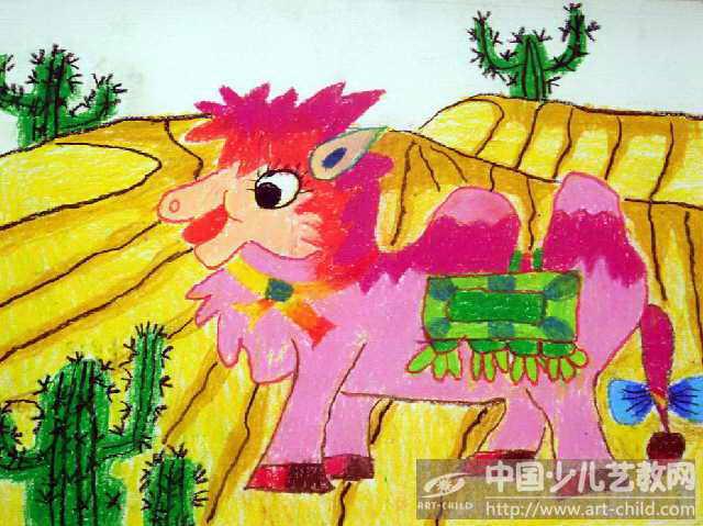 沙漠变森林儿童画画图片大全