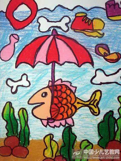 幼儿小班简笔画 雨伞